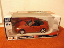 MERCEDES-BENZ SLK CLASS RED CONVERTIBLE MAISTO DIE CAST CAR 1:24 N.I.B