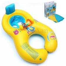 Durable Inflatable Mother Baby Swim Float Raft Kid's Chair Seat Swim Ring Pool