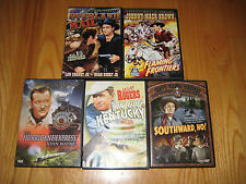 Lot of 5 Classic Western DVDs: John Wayne, Roy Rogers, Dale Evans, Will Rodgers