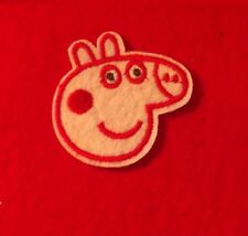 Peppa Pig & Friends - Kids -Iron on Patch Sewing - Applique peppa pig face