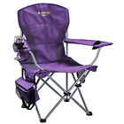 OZTRAIL MODENA PURPLE CHAIR Folding Camping Picnic Arm Chair