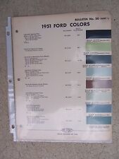 1951 DuPont Color Chips Bulletin 20 Ford Cars Mixing Formulas Automobile  R