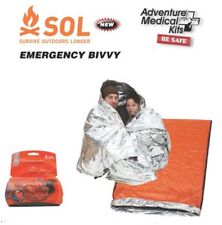 Emergency Bivvy Blanket 2 Person Sleeping Bag Survival Outdoor Mens Womens Pack