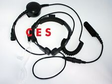 Heavy Duty Throat MIC Headset For Motorola Radio PTX700 PTX760 PTX780