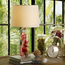 European Country Style Transparent  Glass Bedside Desk Table Lamp DIY Style C