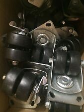 """3"""" Payson Dual Wheel Swivel Caster With Brake Dually Cart Dollie Heavy Duty"""