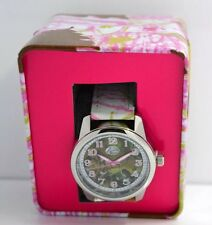 Pink Camo Wrist Watch for Ladies Basspro Nylone/Leather Band  - New