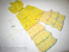 VINTAGE MOD ERA BARBIE DOLL CLOTHES #1687 CARIBBEAN CRUISE YELLOW SILK JUMPSUIT