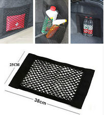 15x9.8in Auto Trunk Seat Back Umbrella Bottle Storage Net String Pocket For Benz