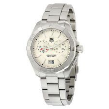 Tag Heuer Aquaracer Chronograph Silver Opalin Dial Stainless Steel Mens Watch