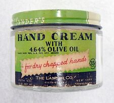 OLD LANDER'S HAND CREAM WITH OLIVE OIL JAR WITH PAPER LABEL