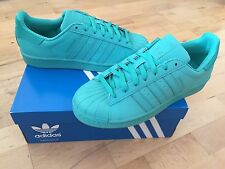 ADIDAS Superstar Adicolour Mens Trainers, Turquoise - Size 10