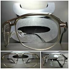Men's or Women CLASSIC VINTAGE Style Clear Lens EYE GLASSES Silver Fashion Frame