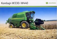 John Deere W330 W440 08 / 2012 catalogue brochure moissonneuse batteuse combine