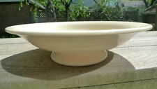 "Vintage Fiesta Ware Ivory Cream Compote Bowl Footed 12-1/4"" Across"