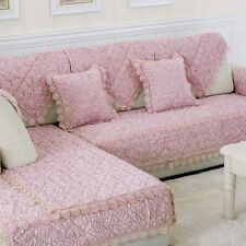 Luxury Sofa Mat Elegant Furniture Couch Slipcover Exquisite Rose Armchair Cover