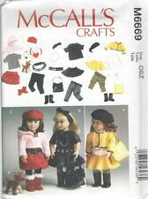 "McCALL'S SEWING PATTERN CRAFTS CLOTHES FOR 18"" DOLL ACCESSORIES & DOG   M6669"