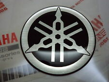2 X YAMAHA TUNING FORK R1 R6 R7 DOMED EPOXY RESIN LOGO EMBLEM STICKER DECAL 40mm