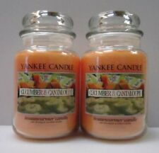 CUCUMBER & CANTALOUPE Yankee Candle 22 oz Housewarmer Jars  LOT of 2