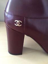 Chanel Short Boots Dark Burgundy 38.5
