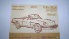 Alfa Romeo Spider Owner's Manual - 1986 -  PDF Version
