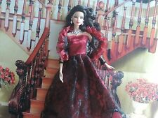 Barbie or Simular Size Dolls Red and Black Dress