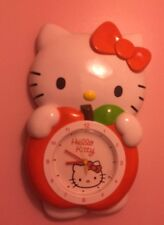 Grande Hello Kitty Reloj de péndulo de Apple, Sanrio, rara, Kawaii, Anime