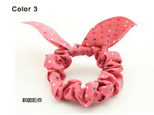 Bunny Ears Shape Dot Pattern Hair Rope Hair Accessories Bow Rubber Band Color 3