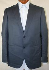 New Ermenegildo Zegna Blue TROFEO 600 Wool Blend Striped Suit 52C / US 42S - W36