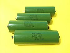 4 x K75-10 capacitors 4.7uF 250V || NEW & NOS || DIY Tube Audio  || Military