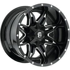 "Fuel D567 Lethal 15x8 5x4.75""/5x127 -18mm Black/Milled Wheels Rims"