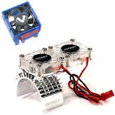 Traxxas Slash 4x4 3340 Cooling Fan + Integy  Motor HeatSink Dual Twin Fan T8534S