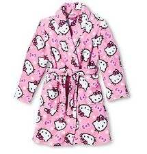 HELLO KITTY Pink Bathrobe Little Girl's size 4 NeW Soft Plush Bath Robe