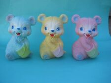 VINTAGE HONEY BEAR RUBBER SQUEAK TOY  Available in 3 Colors  LAST ONES!