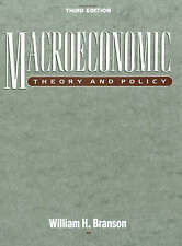 Macroeconomic Theory and Policy by William H. Branson (Hardback, 1989)