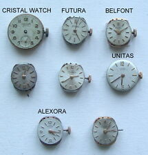 CRISTA WATCH Lot 8 Woman WRISTWATCH MOVEMENT no Running UNITAS ALEXORA LUNASA