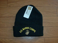MILITARY STYLE MARINE CORPS COLD WEATHER  WATCH CAP BLACK