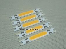 5pcs 3W 9-11V High Power LED Warm White COB Stripe LED Light Emitting Diode