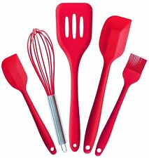 Kitchen Cooking Whisk, Brush, Spatulas Heat Resistant Cooking Utensils Set of 5