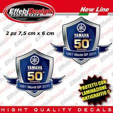Adesivi Stickers YAMAHA RACING 50TH ANNIVERSARY R1 R6 FZ1 FZ6 TMAX XMAX MT