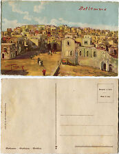 JUDAICA, BETHLEM, PANORAMIC VIEW, BETLEMME, BETHLEEM, ILLUSTRATED BY PAOLETTI  m