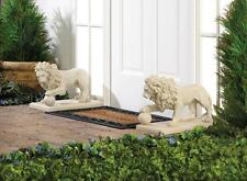 2 GUARDIAN REGAL  LION STATUE PAIR ENTRANCE GARDEN YARD DECOR~15158