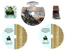 CONNECTICUT  -315 books - History & Genealogy - Civil War - Ultimate Library DVD