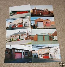 8x fire brigade station photos (6x4) - factory/airport/military