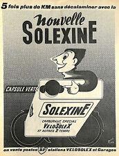 SOLEXINE CARBURANT BP POUR VELOSOLEX DESSIN RENE RAVO PUBLICITE ADVERTISING 1955
