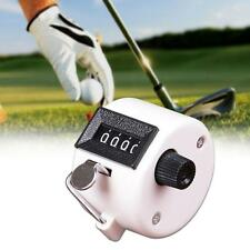 Mini 4 Digit Hand Held Tally Manual Click Counter Pressing Manual Golf White FT
