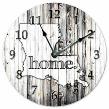 "LOUISIANA RUSTIC HOME STATE CLOCK - Large 10.5"" Wall Clock - 2227"