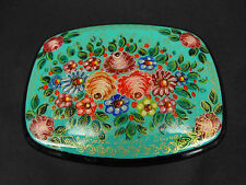 "Russian Lacquer Box ""Flowers""   - Mstera hand painted Russian Lacquer Box"