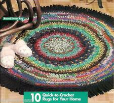 SCRAP YARN RUGS crochet rag rug patterns, instructions for many designs.  HWB