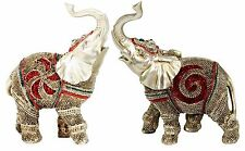 "Feng Shui Pair of  5"" Elegant Elephant Statue Lucky Figurine Gift  Home Decor"